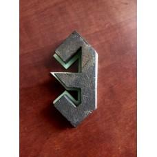 """Цифра дверная """"3"""", шрифт AC/DC"""