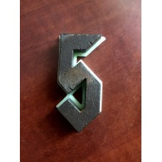 """Цифра дверная """"5"""", шрифт AC/DC"""