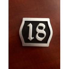 Табличка серебряная (2-е цифры)