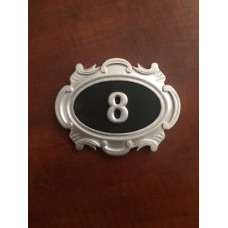 Табличка серебряная, английский вариант (1-а цифра)