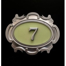 Табличка серебро, английский вариант 1-а цифра