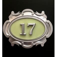 Табличка серебро, английский вариант 2-е цифры