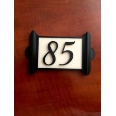 Табличка черная 2 цифры, светиться