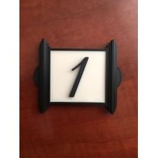 Табличка черная 1 цифра, светиться